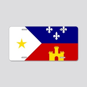 Flag of Acadiana Louisiana Aluminum License Plate